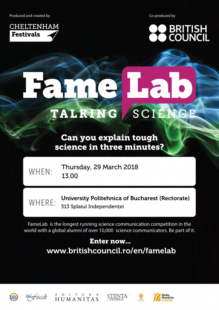 Famelab International Posters 2018 UPB 1